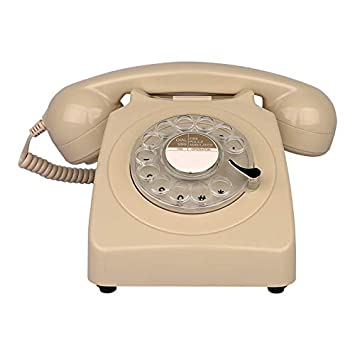 YuanElectronic Diseño rotatorio Teléfono Fijo Antiguo Teléfono ...