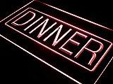ADVPRO Dinner Cafe Restaurant Display LED Neon Sign Red 24'' x 16'' st4s64-i422-r