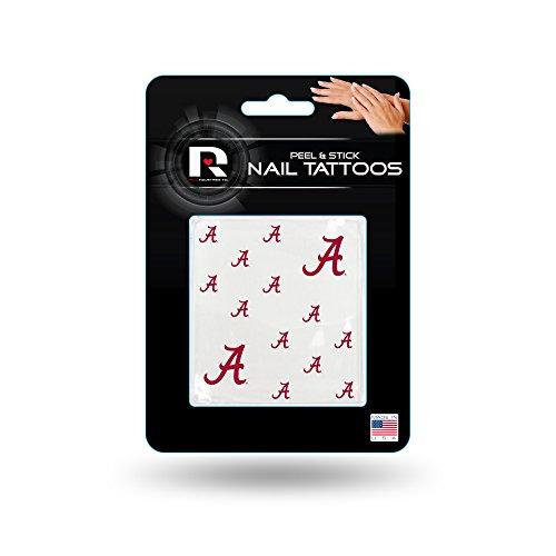 Rico Industries NCAA Alabama Crimson Tide Nail Tattoos, Set of 12 Plus 2 Face Tattoos