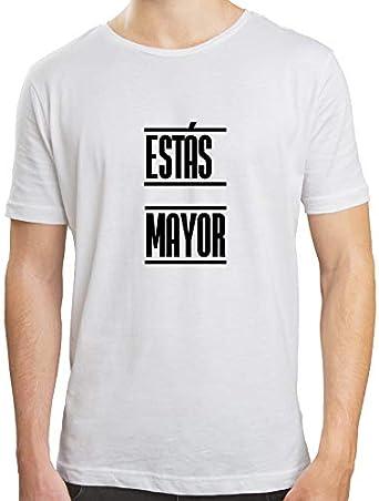 PICOZAPATO Camiseta Hombre | Camiseta Estás Mayor | Camiseta Algodón Hombre | Diseños Exclusivos | Varias Tallas y Colores: Amazon.es: Ropa y accesorios