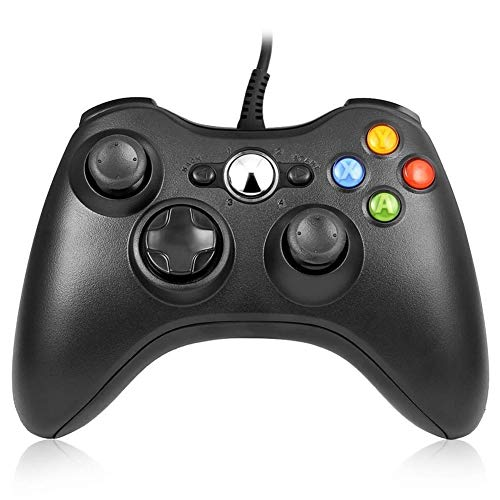 RegeMoudal Xbox 360 PC Game Wired Controller for Microsoft Xbox 360 and Windows PC (Windows 10/8.1/8/7) with Dual Vibration and Ergonomic Wired Game - 360 Xbox Paper
