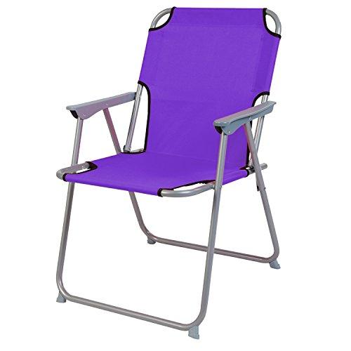 Silla de camping silla plegable plástico oxfort Lila silla ...