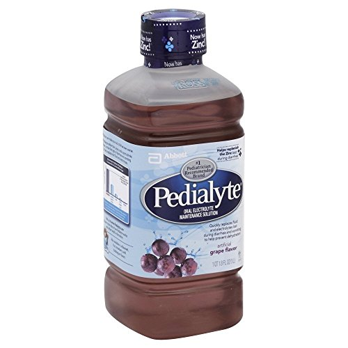 Pedialyte Oral Electrolyte Maintenance Solution, Grape 33.8 fz (Pack of 8)