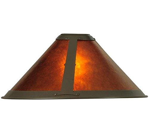 Meyda Tiffany 25962 Van Erp Mica Torchiere Lamp Shade, 15
