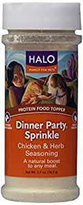 Halo Liv-a-Littles Natural Treats for Dogs and Cats, Dinner Party Chicken with Herb Seasoning, 2.7 oz