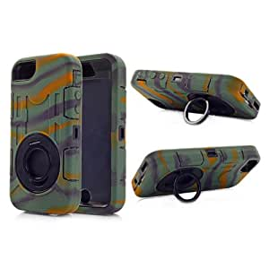 Hot Defender Build in 360 Deg Rotation Stand Case Cover For Apple iPhone 5 5s 5G Camo