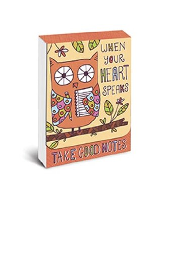 """Graphique - Owl Purse Notes, 3 x 4"""", Multi-Colored, 75 note pages"""
