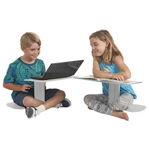 ECR4Kids The Surf - Portable Lap Desk/Laptop Stand/Writing Table, Light Grey (10-Pack) (Best Thin Light Laptop)