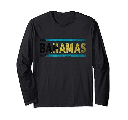 Retro Flag of Bahamas LS Shirt Nassau Vintage