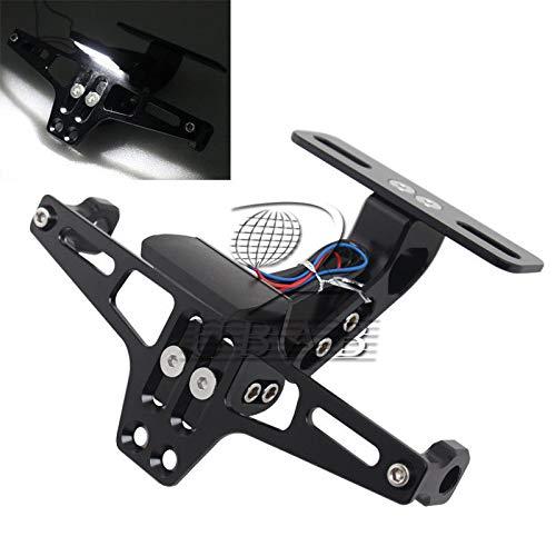 FidgetFidget CNC License Plate Holder Bracket Fender Eliminator &LEDs for Honda Kawasaki
