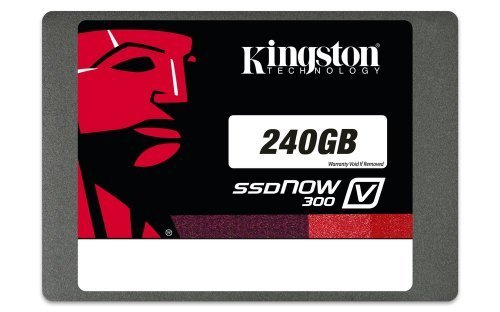 Price comparison product image Kingston Digital 240GB SSDNow V300 SATA 3 2.5 (7mm height) Solid State Drive (SV300S37A/240G)