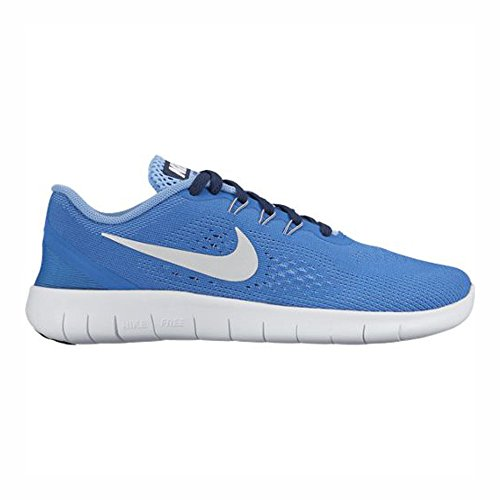 Synthetic Star Blue (NIKE Kids Free RN Big Kid Star Blue/Light Blue/Midnight Navy/Metallic Silver Shoes (4 Big Kid M))