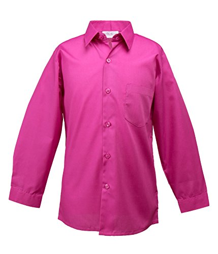 Spring Notion Big Boys' Long Sleeve Dress Shirt 5 Fuchsia by Spring Notion