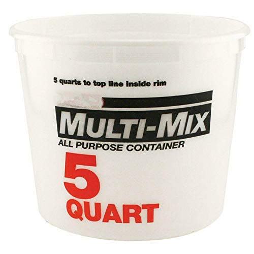 5-Qt. Natural Multi Mix Container Plastic Construction Paint Bucket (Pack of 3) With Ebook