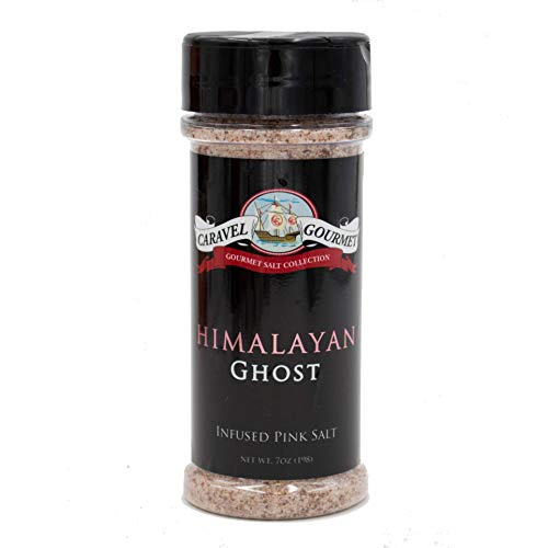 Himalayan Ghost Pepper Infused Pink Ancient Salt Shaker - A Pure, All-Natural Whole Food Salt Blended with Delicious Ghost Pepper - Kosher, Gluten-Free, Non-GMO, No MSG Seasoning - 5 total oz.