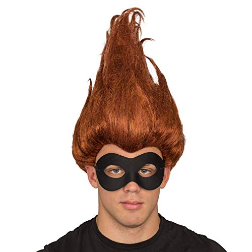 Incredible Superhero Buddy Pine Adult Deluxe Costume Wig and Mask