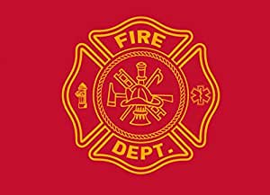 Pro Pad Firefighter Motorcycle Flag, 6 by 9-Inch