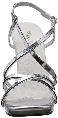 Women's Pleaser 09 Argent Mirroir Heels Chic Transparent Silver ZZarEq
