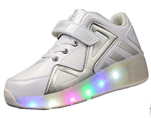 YUHJ led Shoes Wild Casual Children's Luminous Shoes(,White,32)