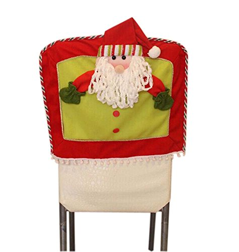 Panda Superstore Decorative Chair Slipcover/Lovely Santa Claus Chair Covering, Multicolor by Panda Superstore