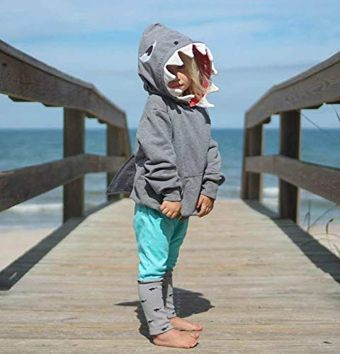 b725fdf88ef2 Unisex Baby Autumn Winter Shark Hooded Sweatshirt Boys Girls Hoodies ...