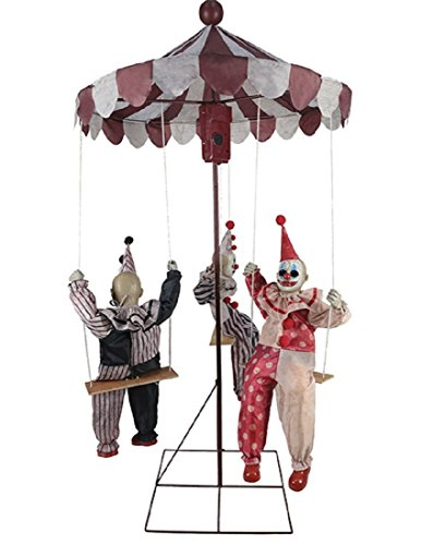 MARIO CHIODO Seasonal Visions Animated Clown Go-Round Prop]()