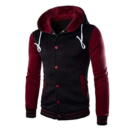 - UOFOCO Winter Slim Hoodie Warm Hooded Men Coat Jacket Outwear Sweater Sweatshirt