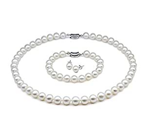 701e382aaded4 Amazon.com: JYX AAA Round White 10-11mm Cultured Freshwater Pearl ...