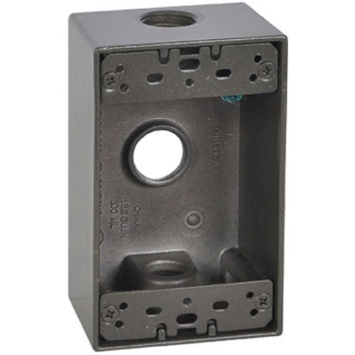Master Electrician FSB50-3-BR Weatherproof 1 Gang Rectangular Outlet Box by Master Electrician