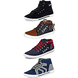 Maddy Perfect Combo Pack of 4 Multicolored Men's Casual Sneakers