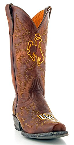 NCAA Wyoming Cowboys Men's Gameday Boots, Brass, 10.5 D (M) US