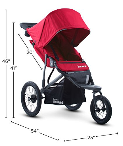 Joovy Zoom 360 Ultralight Jogging Stroller, Black