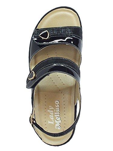 Melluso Women's Fashion Sandals Black 99AbRl