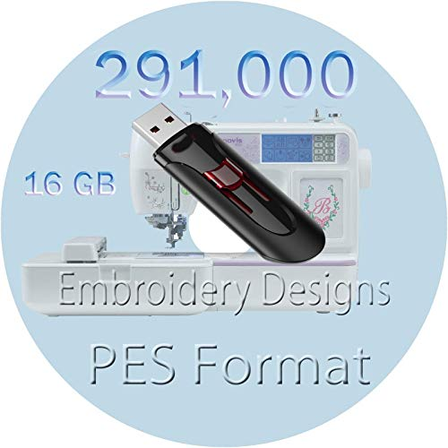 Embroidery designs 291,000 Children PES Format Characters Embroidery Designs for Brother Machine PES Format New 16GB USB Memory (Embroidery Designs Software)