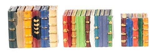 Dollhouse Miniature 1:12 Scale 3 Pc Colored Book Blocks SET #G8575