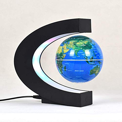 NOOYC LED Light World Map, Levitate Globe Floating Magnetic Levitation Nightlight for Children Educational Gift Home…