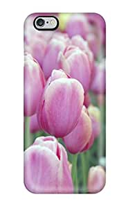 Top Quality Rugged Pink Tulips Case Cover For Iphone 6 Plus