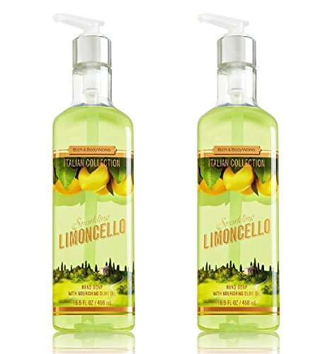 Bath and Body Works Sparkling Limoncello Hand Soap with Nourishing Olive Oil - 15 oz / 443 ml each (2 Pack) ()