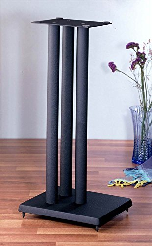 RF series Heavy Duty Speaker Stand in Black - Set of 2 (36 in. H (30 lbs. pair)) by VTI