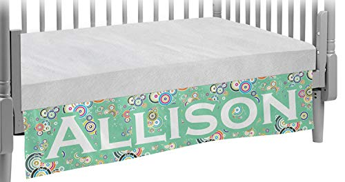 - Colored Circles Crib Skirt (Personalized)