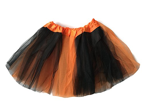 Just Dance Halloween Costume (Rush Dance Colorful Kids Girls Ballerina Dress-Up Princess Costume Recital Tutu (One Size, Orange & Black (Halloween)))