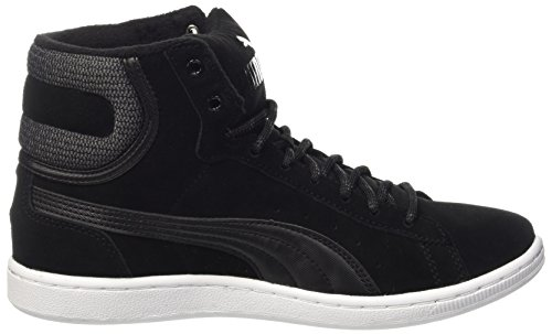 Puma Damen Vikky Mid Twill Sfoam High-Top Schwarz (puma black-puma Black 03)