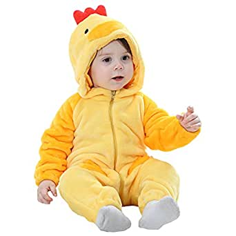 MerryJuly Toddler Unisex-baby Halloween Costume Animal Onesie Outfit Chicken 100cm/18-24 Months