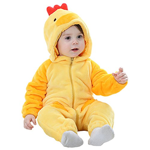 MerryJuly Toddler Unisex-Baby Halloween Costume Animal Onesie Outfit Chicken 80cm/6-12 -