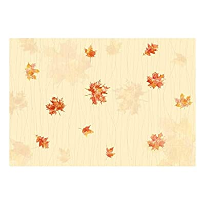 Quality Artwork, Amazing Work of Art, Maple Leaves with Soft Yellow Textured Background Wall Mural