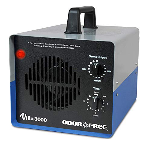 OdorFree Villa 3000 Ozone Generator for Killing Mold, Permanently Removing Tobacco, Pet and Musty