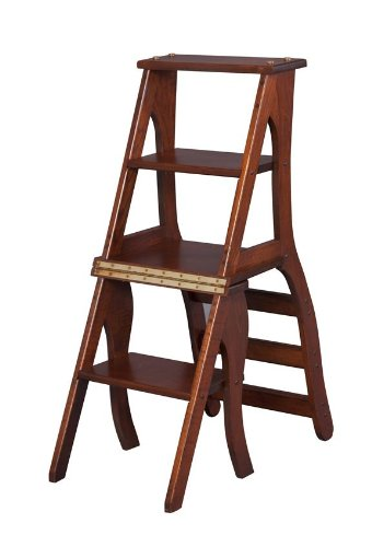 Charmant Amish Handcrafted Library Step Stool Chair Combo
