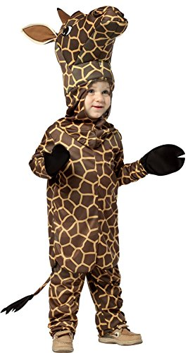 UHC Boy's Giraffe Outfit Animal Theme Party Fancy Dress Child Halloween Costume, Toddler (3T-4T)