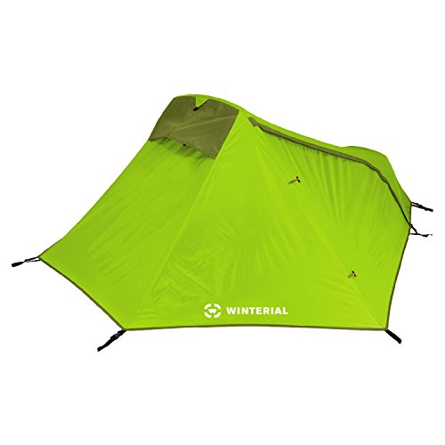 Winterial Single Person Tent / Personal Bivy Tent / Lightweight / 3 Pounds 9 Ounces / Elite / Backpacking / Camping / Green