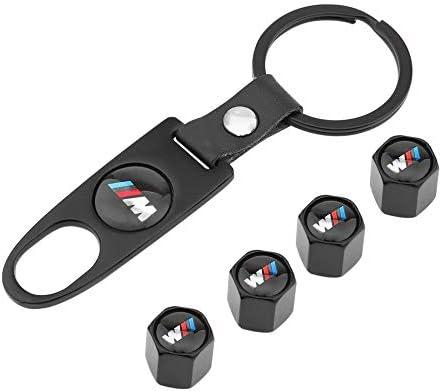 4 Unidades, tap/ón de v/álvula + 1 Llave peque/ña, Estilo antirrobo, tap/ón sin v/álvula Tap/ón de v/álvula de aleaci/ón de Aluminio para BMW M Tikafr